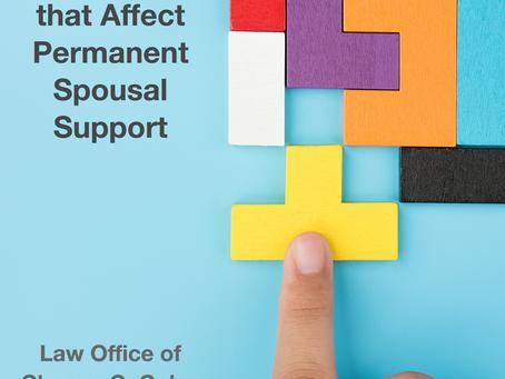 14 Factors That Affect Permanent Spousal Support