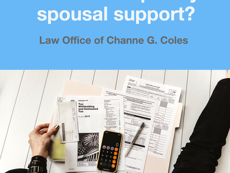 Temporary Spousal Support in California