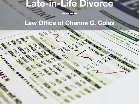 Financial Security and Late-in-Life Divorce