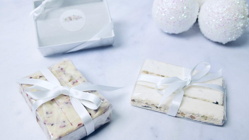 White Chocolate & Raspberry Fudge Gift Box