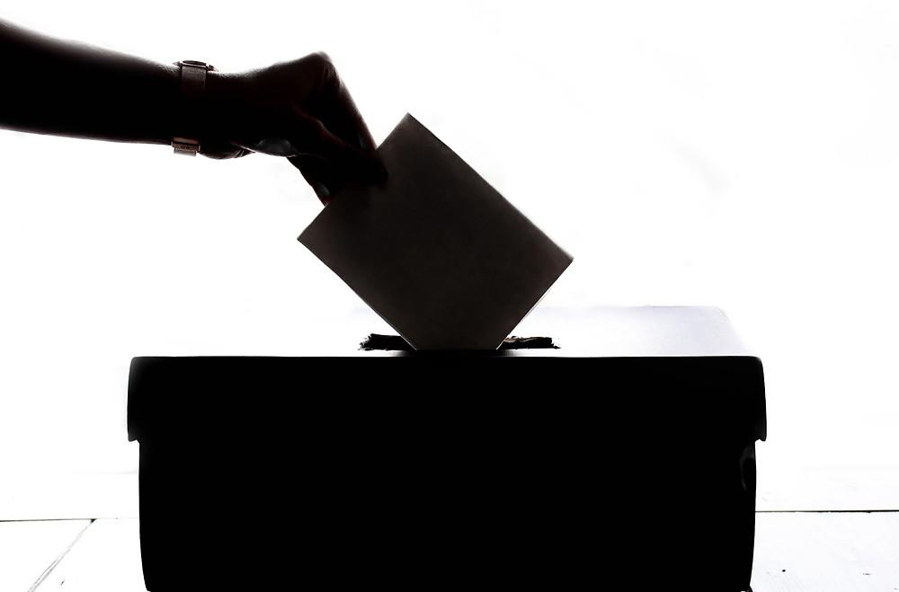 Black Election Box White Background Vote
