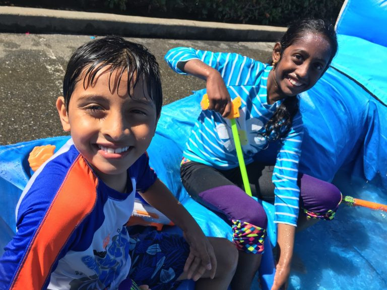 Ananth & Gnapika are ready for the Water Fight!