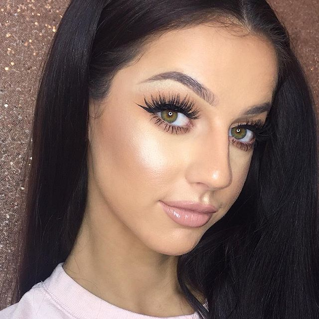 Simple Glam ✨ Skin + Lash Focus___toofaced Born This Way Foundation__urbandecaycosmetics Naked Skin