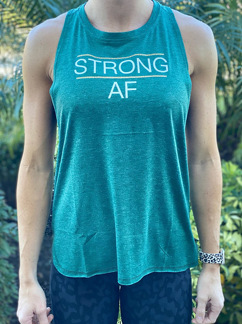 Women's Muscle Tank - STRONG AF