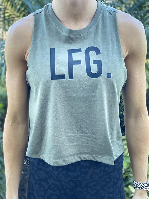 Women's Crop Racerback Tank - LFG
