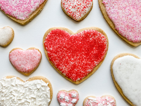 Valentines Day Frosted Sugar Cookies