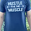 Thumbnail: Men's Crew T-Shirt - Hustle for the Muscle