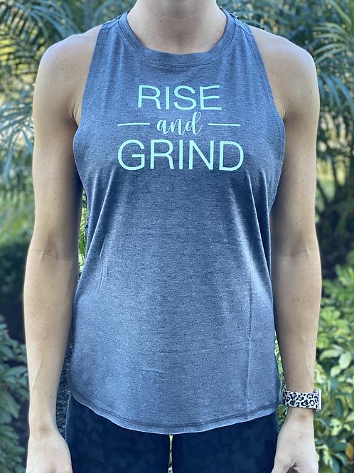 Women's Muscle Tank - Rise & Grind