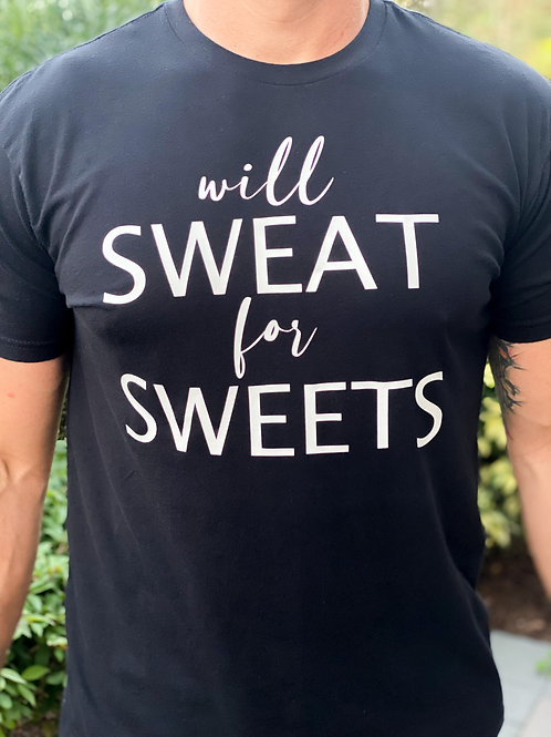 Mens Crew T-Shirt - Will Sweat for Sweets