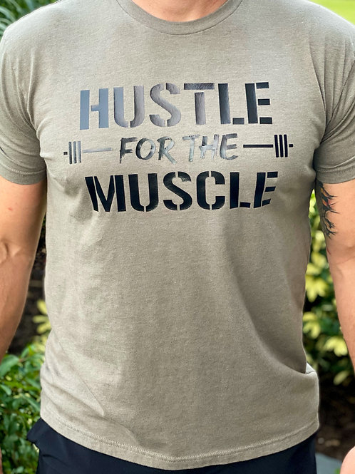 Men's Crew T-Shirt - Hustle for the Muscle