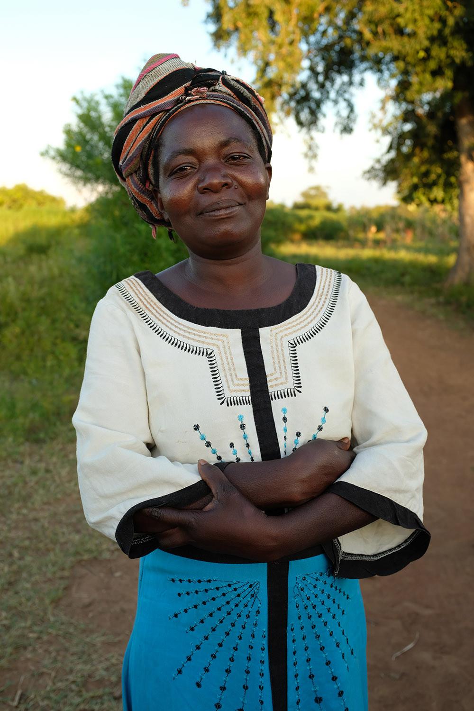 Agnes in her village