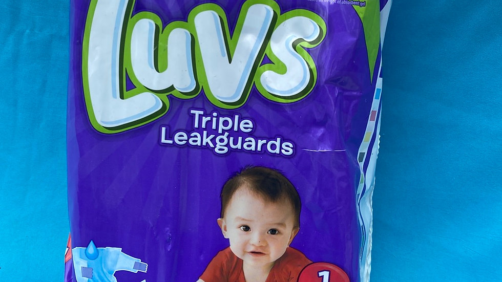 Disposable diapers lovs size one