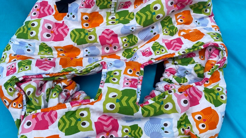 Shopping cart cover owls