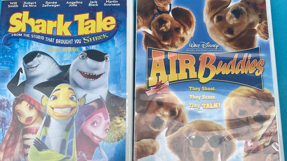 Air buddies, shark tale DVD
