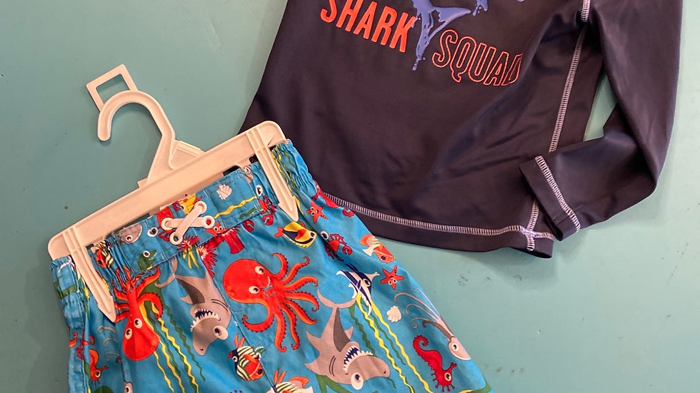 Size 2T, 2pcs (Swim)