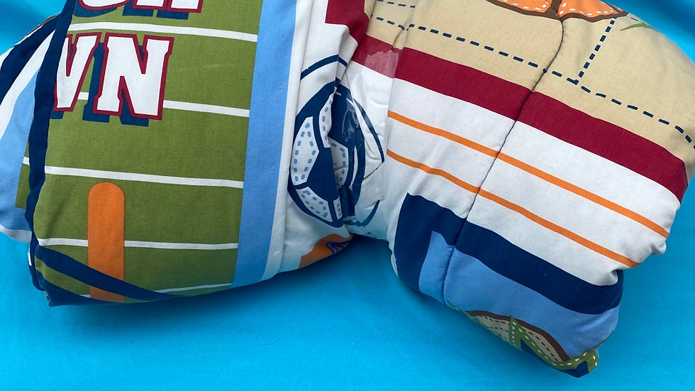 Sports bedding theme crib size