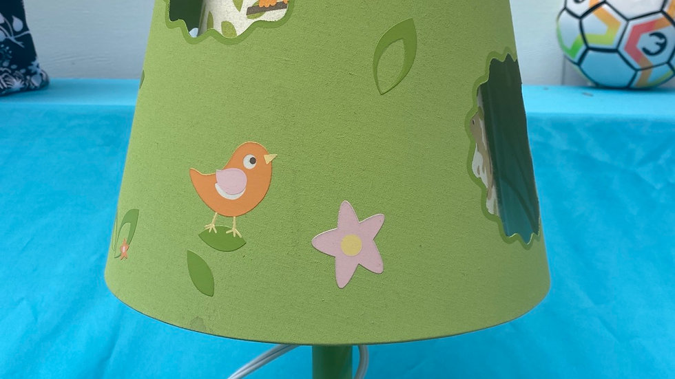 Woodland theme green lamp