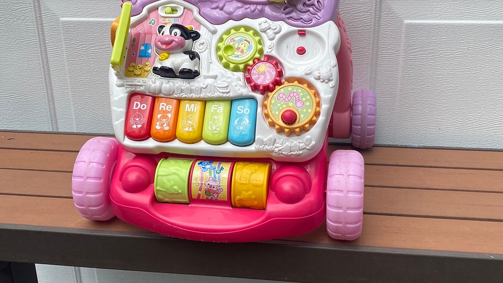 VTECH sit and stand learning walk or pink and purple
