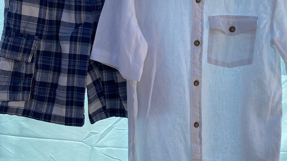 Size 8, two pieces, linen shirt