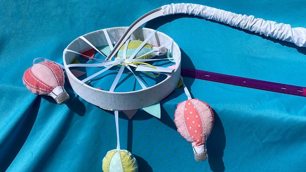 Hot air balloon crib mobile