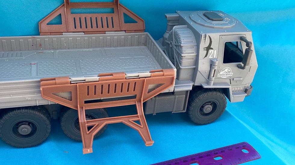 Gray truck Jurassic Park