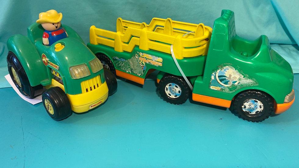 Tractor & hay truck