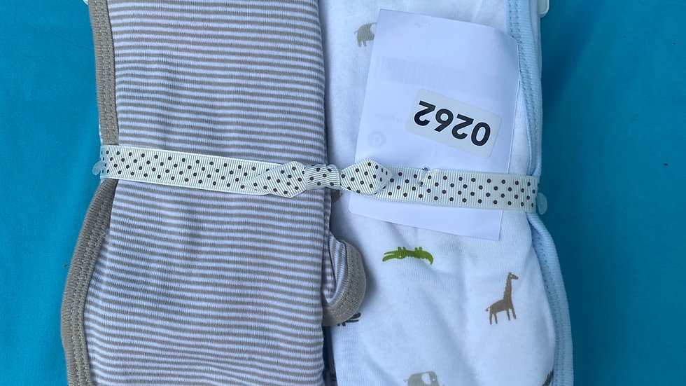 Carter's swaddle blankets brand new brown an animal