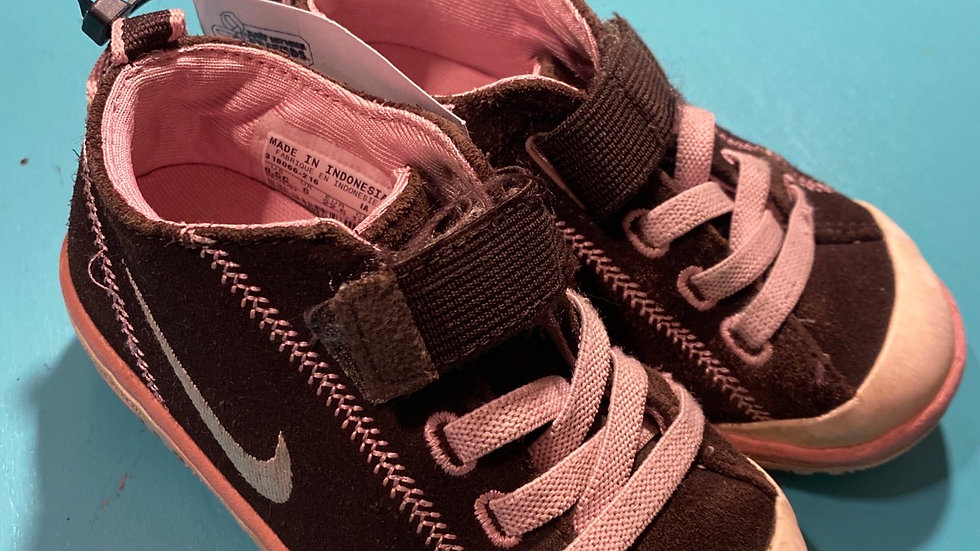Little kid 6.5, Nike (brown/pink)