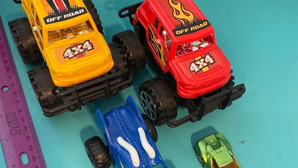 Trucks, car
