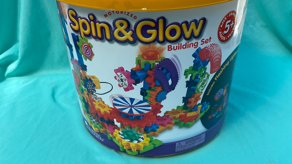 Motorized spin and glow building set
