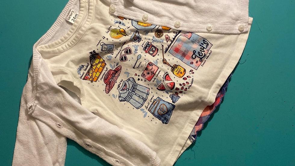 Size 24mo Cardigan & Shirt