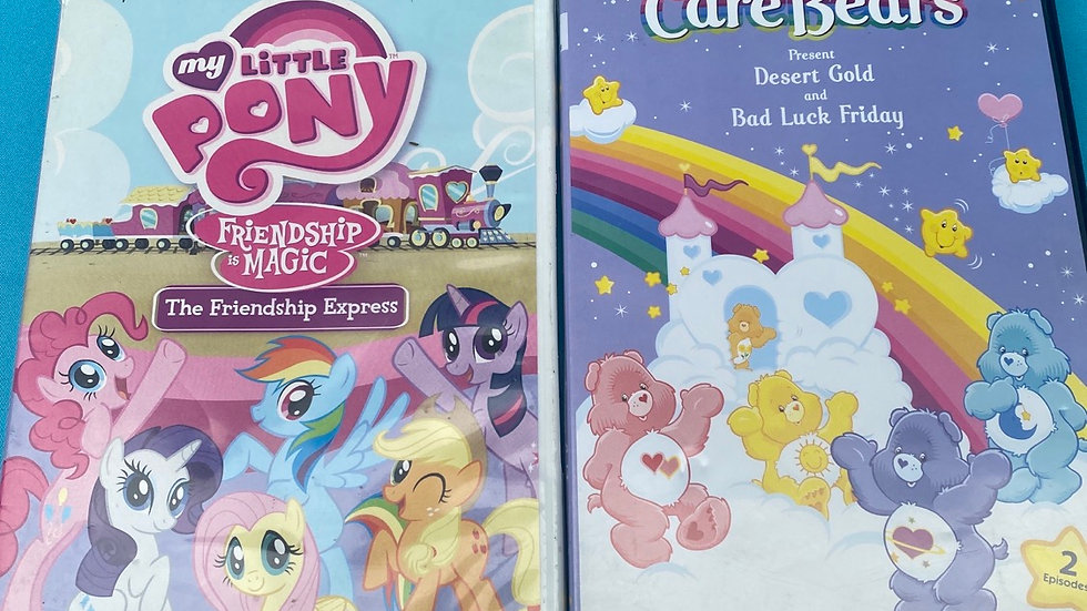 Care bears DVD, my little pony DVD