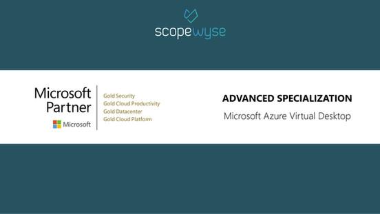 scopewyse erreicht erste Advanced Specialization
