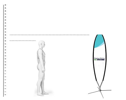 BANDEROLA SURFER 2.00 METROS