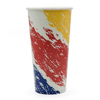 Paquete Vaso Bebida Fria 22 Oz Pincelado x 50 Unidades