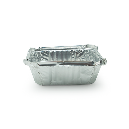 Caja de bandeja de aluminio 1 lbs x1000 unidades