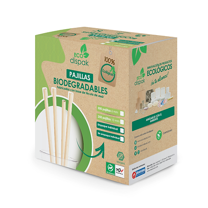 Caja Pajilla Transparente Biodegradable 10 mm x 250 Unidades
