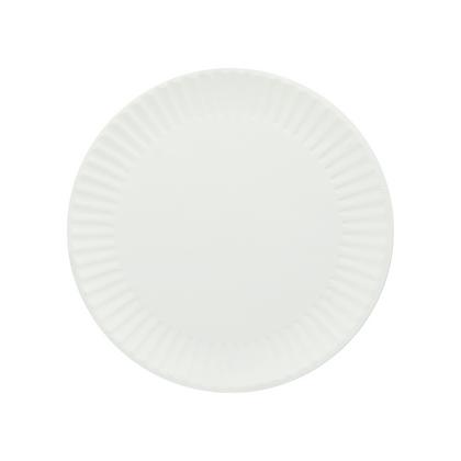 Paquete Plato de Papel Blanco No. 9 x 100 Unidades