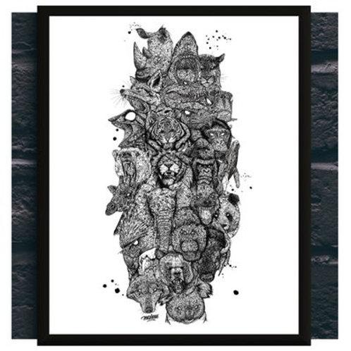 Planche Mahnu - Totem Animals