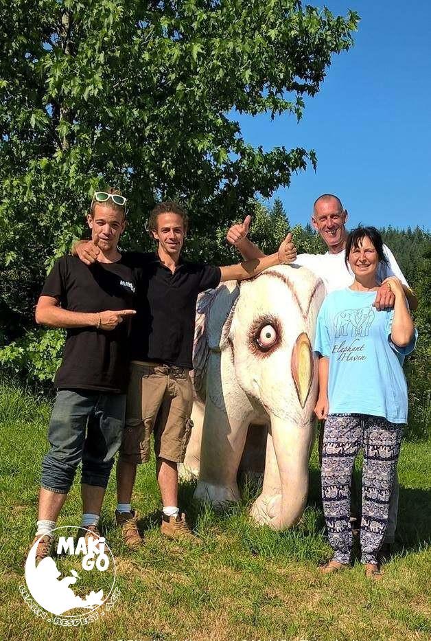 Les co-fondateurs de MakiGo & Elephant Haven.