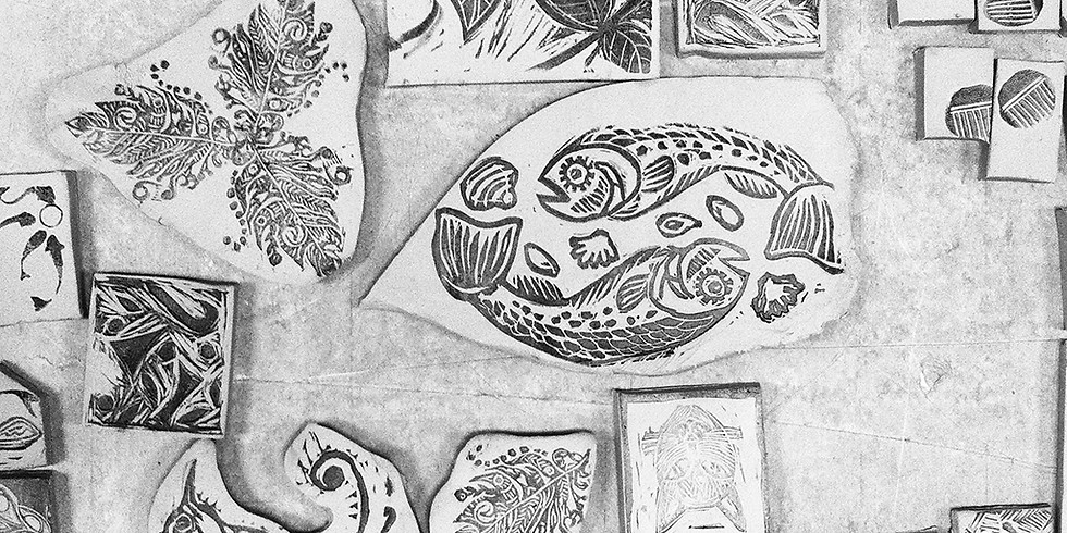 Linogravure et estampes sur argile (1)