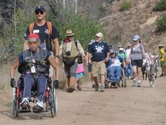 Hikers wheel their way through Mugu's Sycamore Canyon