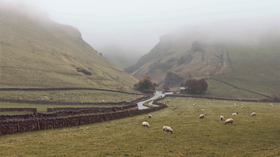 Misty Morning at Winnats Pass