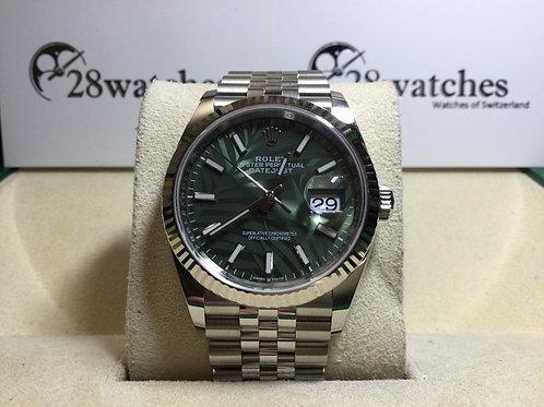 Brand new Rolex Datejust 126234-0047 Palm 全新 - 銅鑼灣店