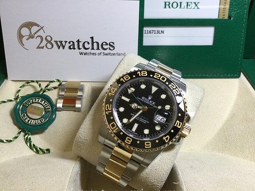 Pre-Owned Rolex GMT-Master II 116713LN 二手行貨,保養中,亂碼,內影,停產,齊格,藍光 - 銅鑼灣店