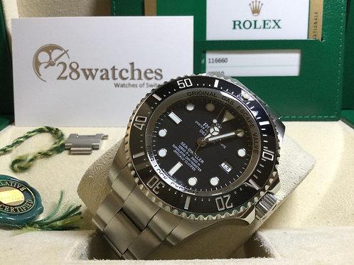Pre-Owned Rolex Sea-Dweller Deepsea 116660LN 二手,亂碼,停產 - 銅鑼灣店