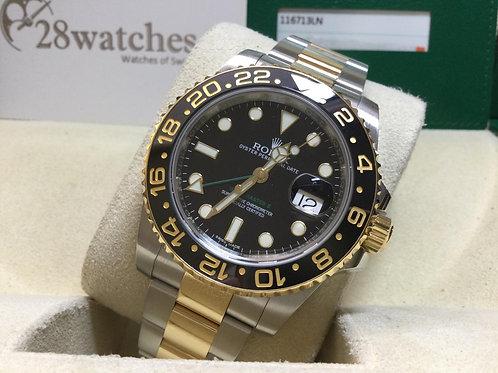 Pre-Owned Rolex GMT-Master II 116713LN 二手行貨,保養中,亂碼,停產,齊格,藍光  - 銅鑼灣店