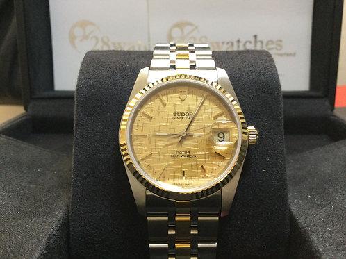 Brand new Tudor Prince Date 74033 Champ 全新,公價$23,500  - 銅鑼灣店