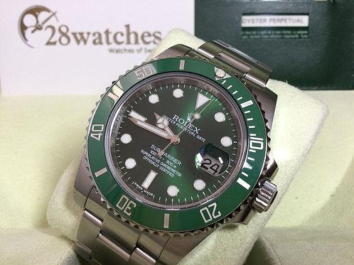 Pre-Owned Rolex Submariner Date 116610LV 二手,內影,停產,齊格,藍光,G頭  - 銅鑼灣店