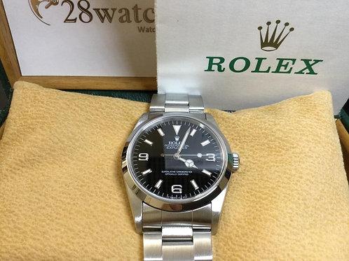 Pre-Owned Rolex Explorer 14270 二手行貨,AD發票,停產,齊格,T頭,T-25面,變黃 - 銅鑼灣店